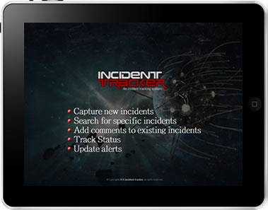 IncidentTracker iPad App Screen